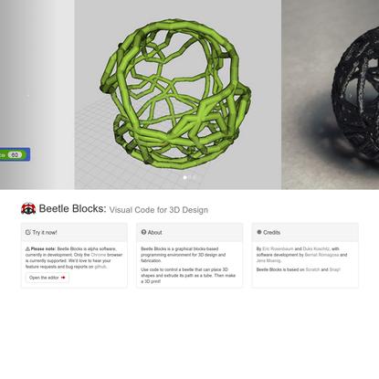 Beetle Blocks - Visual code for 3D design