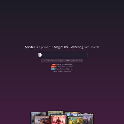 Scryfall Magic: The Gathering Search
