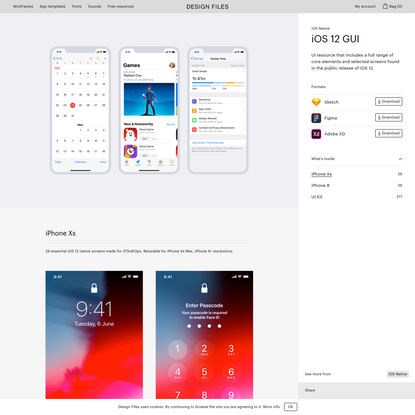 iOS 12 GUI iOS Native - Design Files