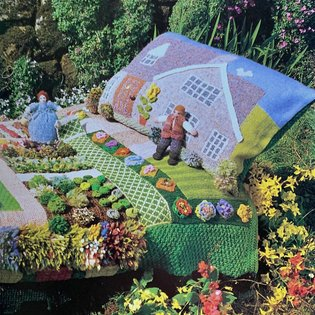 "from ""knitted gardens"", 1991. 128pp. sold."