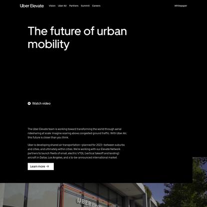 Uber Air | Uber Elevate
