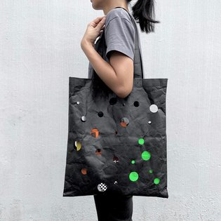A small quantity of the Polka Dot Tote Bags are now available at store.designfilmfestival.com. Link in bio. :) #madebyanonym...