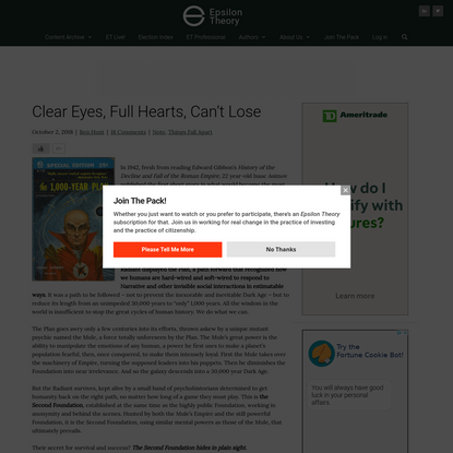 Clear Eyes, Full Hearts, Can't Lose | Epsilon Theory