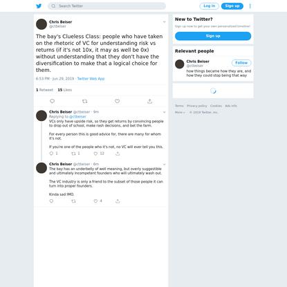Chris Beiser on Twitter