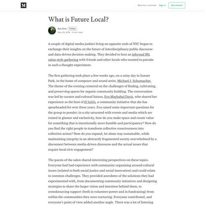 What is Future Local? - Roo Zine - Medium