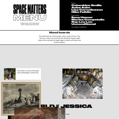 Space Matters - Mood boards