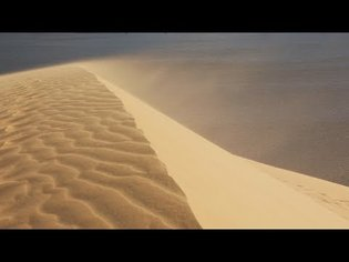 💨 Sand Blowing Over Dunes Sounds For Sleeping, Relaxing ~ Wind Storm Desolate Dry Desert Ambience
