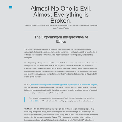The Copenhagen Interpretation of Ethics