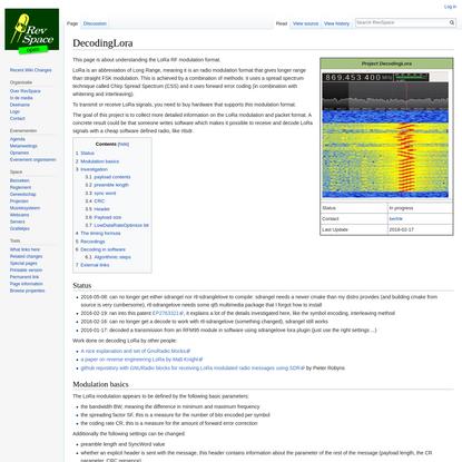 DecodingLora - RevSpace