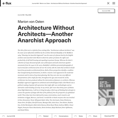 Architecture Without Architects-Another Anarchist Approach
