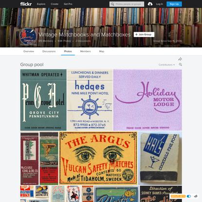 Vintage Matchbooks and Matchboxes