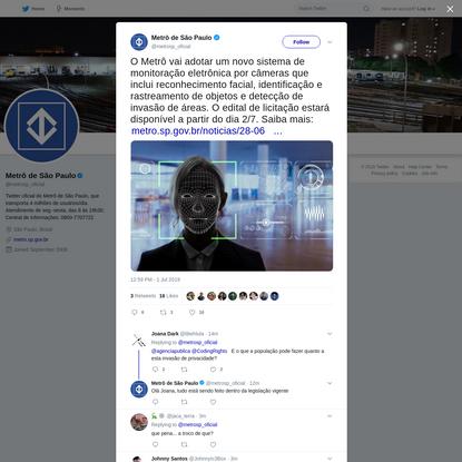 Metrô de São Paulo on Twitter