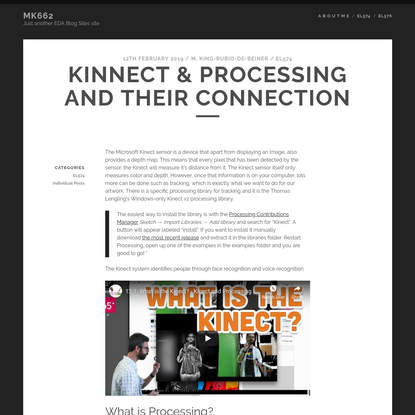 Kinnect & Processing and their connection