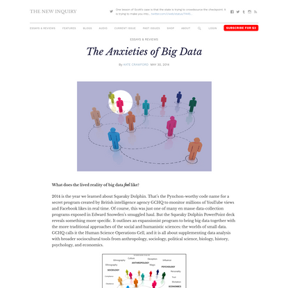 The Anxieties of Big Data