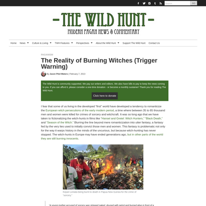 The Reality of Burning Witches (Trigger Warning) | The Wild Hunt