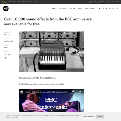 Over 16,000 sound effects from the BBC archive are now available for free