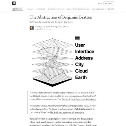 The Abstraction of Benjamin Bratton - The Abs-Tract Organization - Medium
