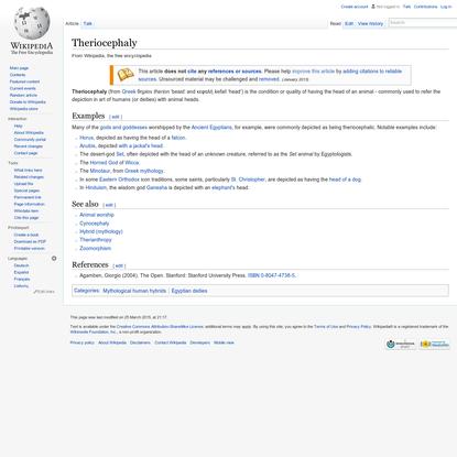 Theriocephaly - Wikipedia, the free encyclopedia
