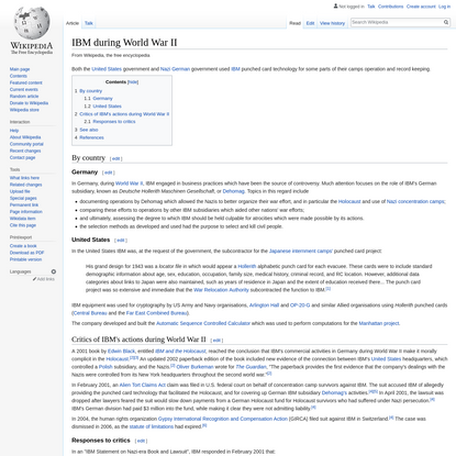 IBM during World War II - Wikipedia