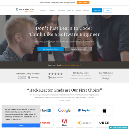 Hack Reactor: Software Engineering Program & Coding Bootcamp