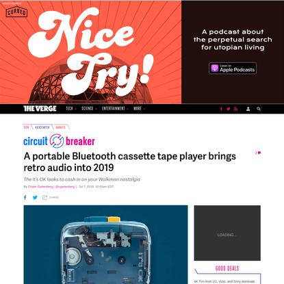 A portable Bluetooth cassette tape player brings retro audio into 2019