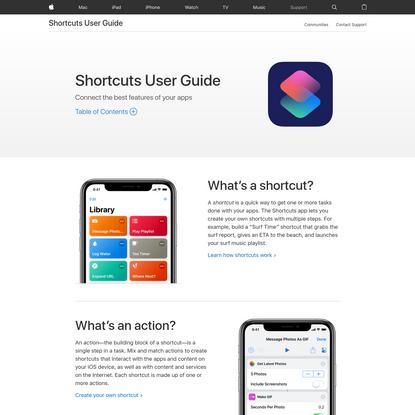 Shortcuts User Guide