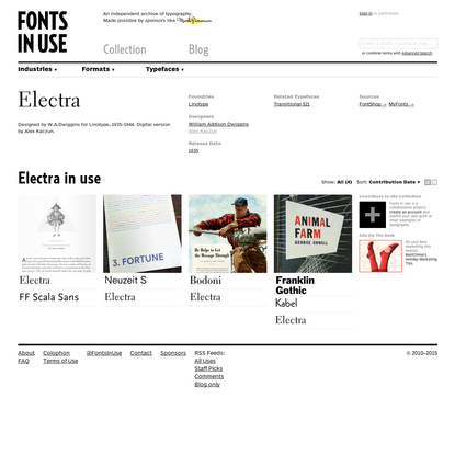 Electra in use - Fonts In Use