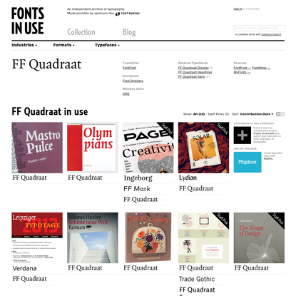 FF Quadraat in use - Fonts In Use