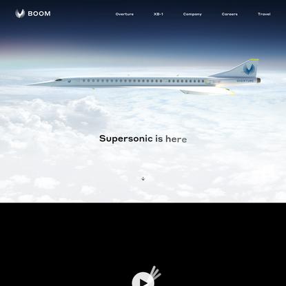 Boom - Supersonic Passenger Airplanes