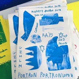 Une affiche faite il y a quelques mois par monsieur Patrick pour le concert de ce soir à GZ avec Rays d'Oakland, Portron Por...