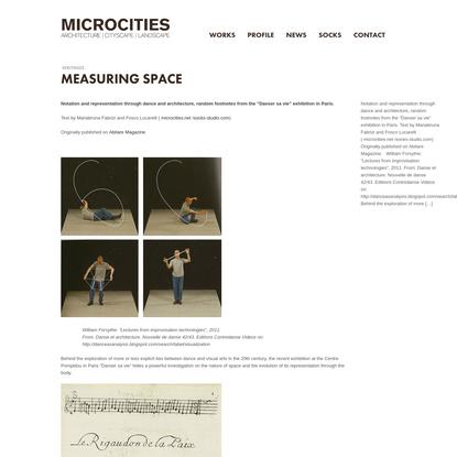 Measuring Space | microcities