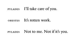 "Euripides, from ""Orestes"", An Oresteia (trans. Anne Carson)"