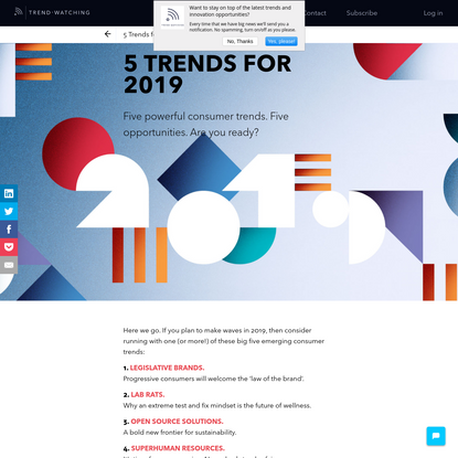 5 Trends for 2019