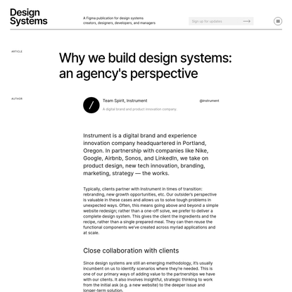 Why Instrument builds design systems