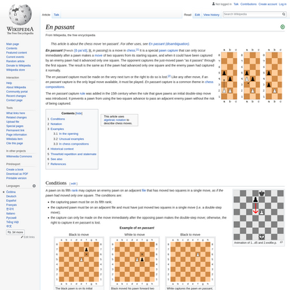 En passant - Wikipedia