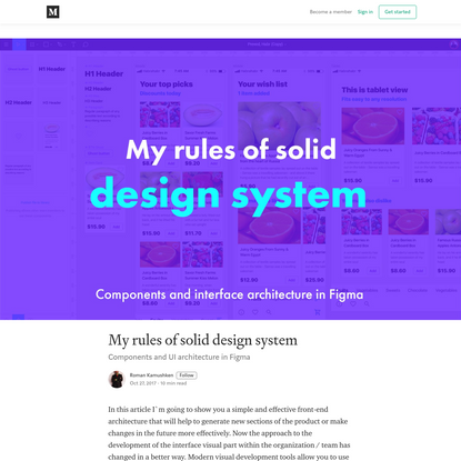 My rules of solid design system - Roman Kamushken - Medium
