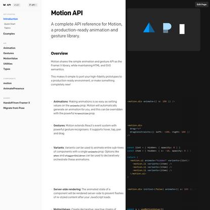 Framer Motion API