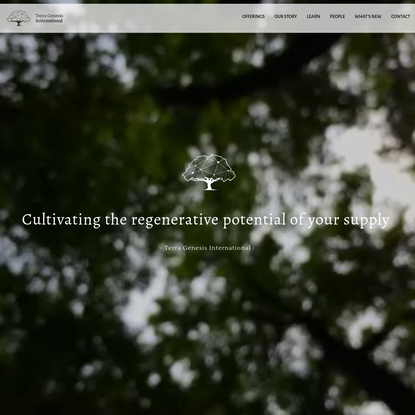 Terra Genesis International - Unlocking the potential of Regenerative Agriculture and Supply