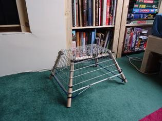 shopping basket stool