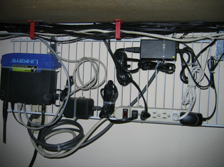 Computer Desk Cable Management on the Cheap