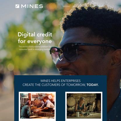 MINES - Digital Credit For Emerging Markets