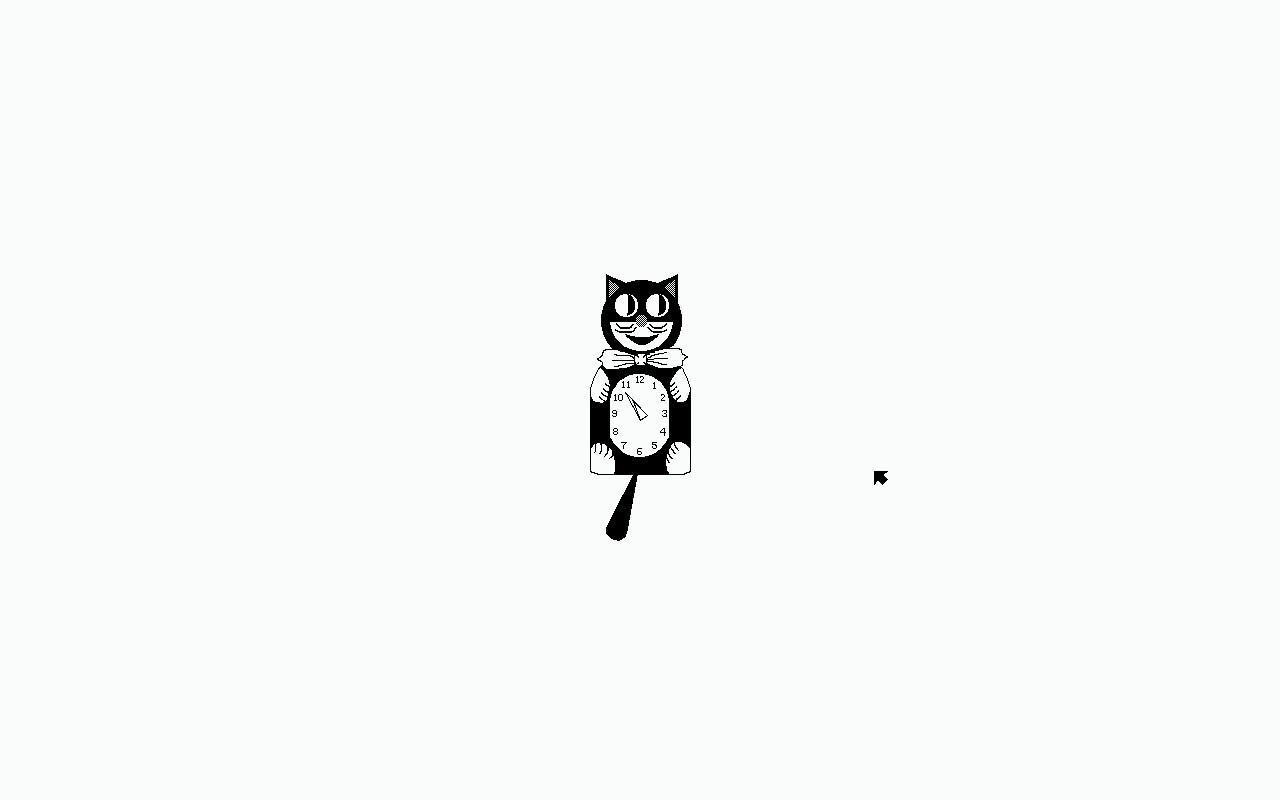Plan9 Cat Clock