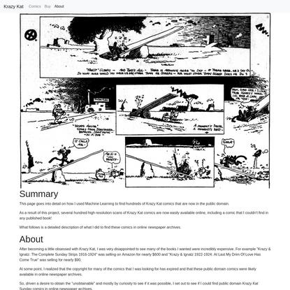Krazy Kat Comics