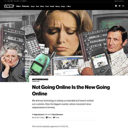 Not Going Online Is the New Going Online