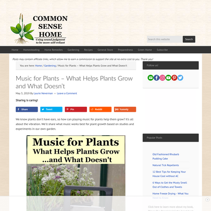Music for Plants - What Helps Plants Grow and What Doesn't