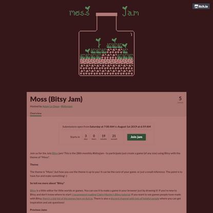 Moss (Bitsy Jam)