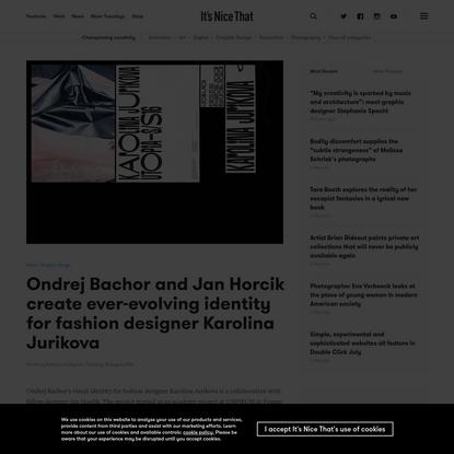 Ondrej Bachor and Jan Horcik create ever-evolving identity for fashion designer Karolina Jurikova