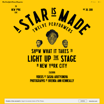 12 Performers Show What It Takes to Make It in New York