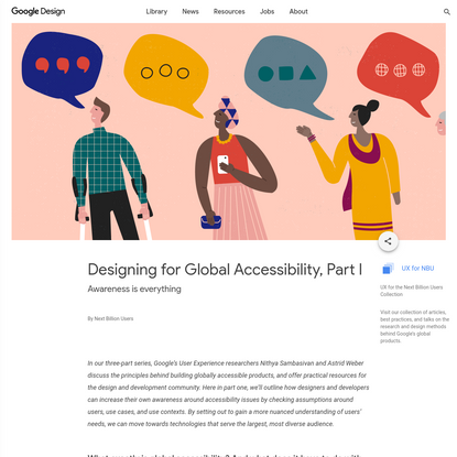 Designing for Global Accessibility, Part I - Library - Google Design