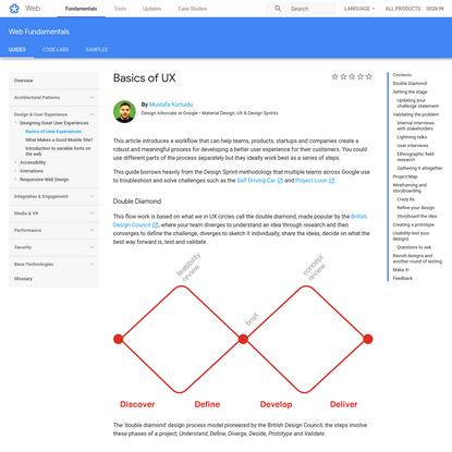 Basics of UX | Web Fundamentals | Google Developers